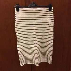 BDG Striped Pencil Skirt